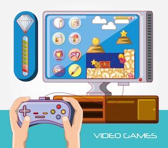 иконки управления видеоиграми