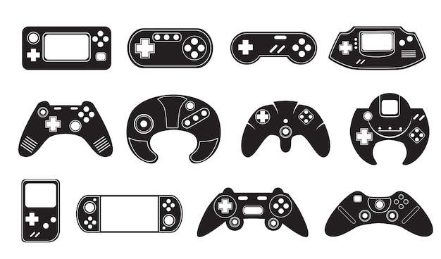 Video game controllers set