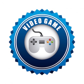 Video game design over white background vector illustration
