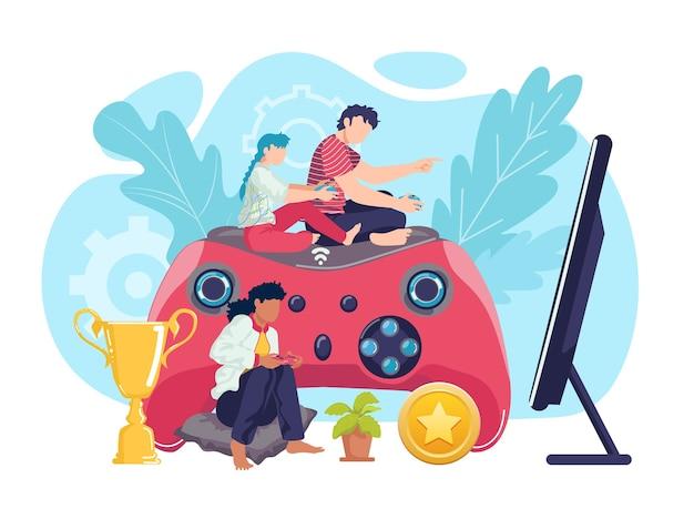 Развлекательные видеоигры с джойстиком