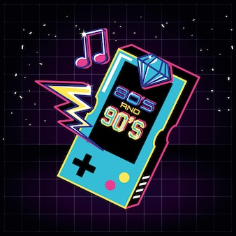 Video game hand of eighties and nineties retro