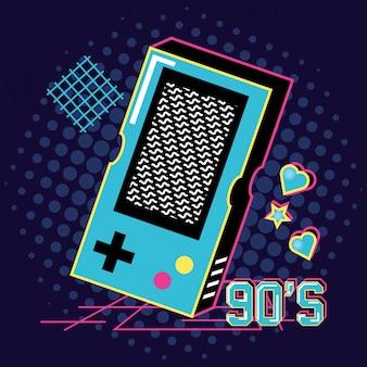 Video game hand of nineties retro