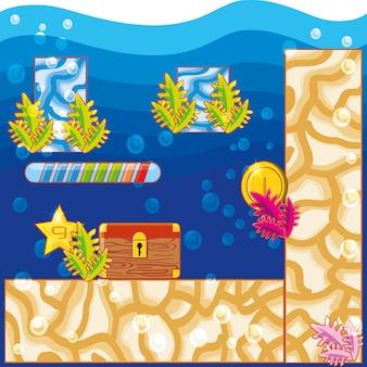 水中のビデオゲームのインターフェイス