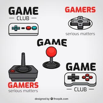 フラットデザインのビデオゲームロゴコレクション