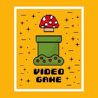 Video game mushroom entertaining play