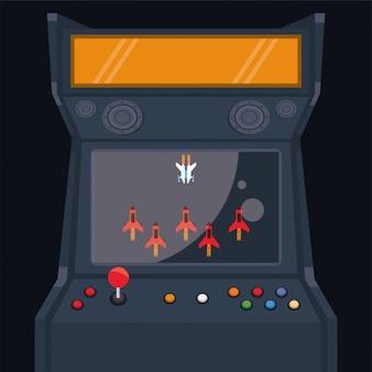 Video game pixelated retro machine icon