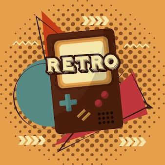 ビデオゲームポータブルメンフィス背景レトロヴィンテージ