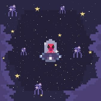 Video game retro ilustration