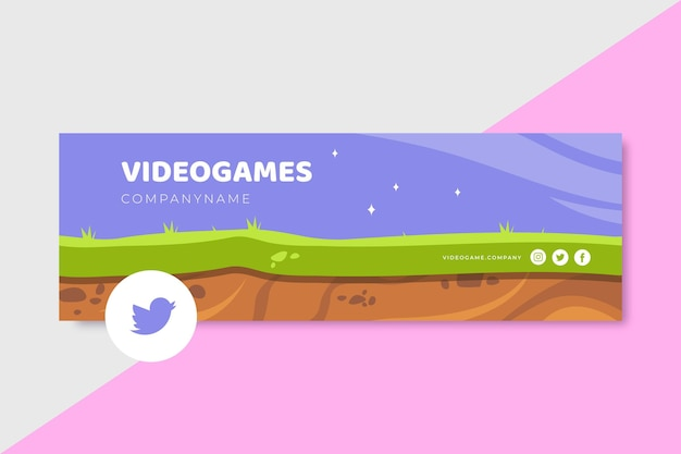 Video game twitter header