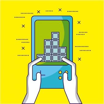 ビデオゲームは、ビデオゲームコンソールの図で遊ぶ人を設計します