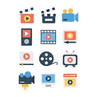 Video making icons pack