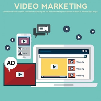 Video marketing background design