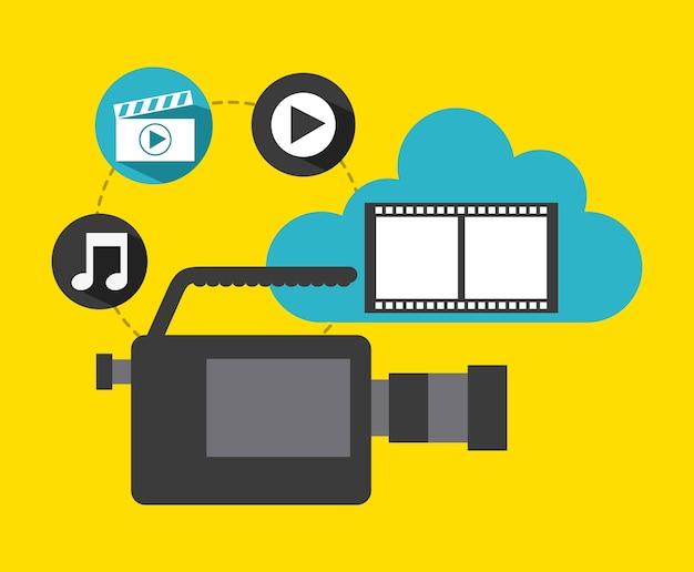 Video marketing design, vector illustration eps10 graphic