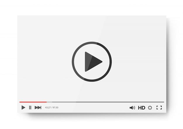 Шаблон панели видеоплеера для вашего дизайна для веб-сайта и приложения