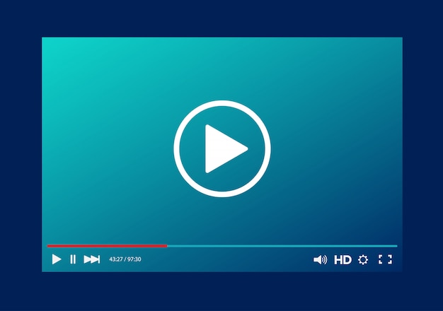 Video player bar template