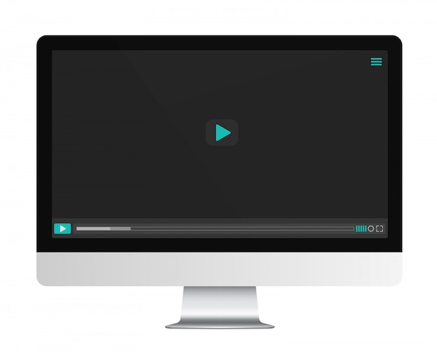 Video player on the display screen