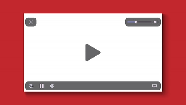 Video player flat design