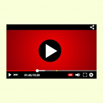 Video player interface template for web and mobile apps,
