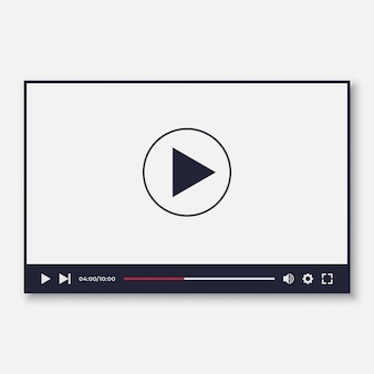 Video player interface template for we and moile apps