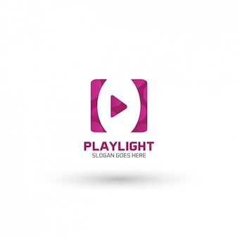 Video player logo template