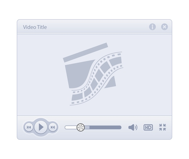 Video player skin isolated