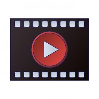 Video player symbol button
