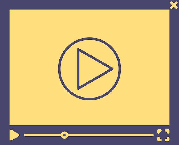 비디오 플레이어 템플릿, 간단한 평면 스타일