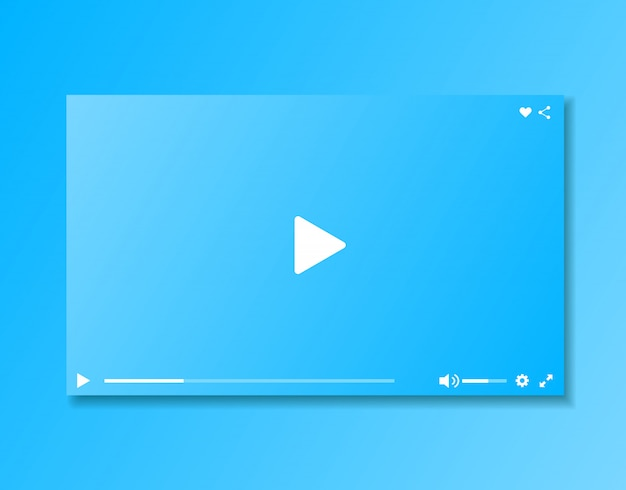 Video player window. video player interface.
