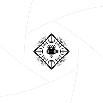 Video production badge or label design