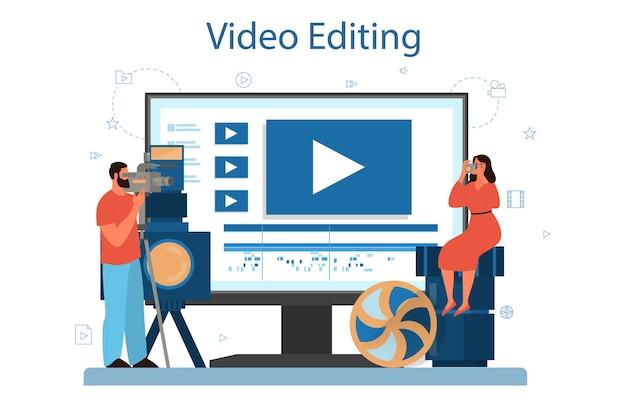 비디오 제작 또는 비디오 그래퍼 온라인 서비스 또는 플랫폼.