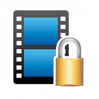 Video secure over white background vector illustration
