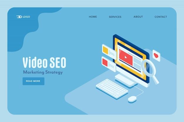 Video seo marketing concept