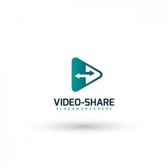 Video share logo template