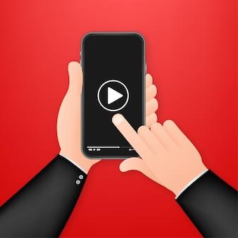 ビデオスマートフォンのイラスト