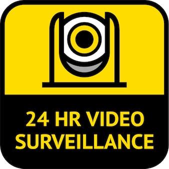 Видеонаблюдение, этикетка cctv квадратной формы