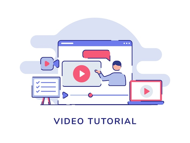 Видеоурок концепция видео человек презентация на дисплее компьютера