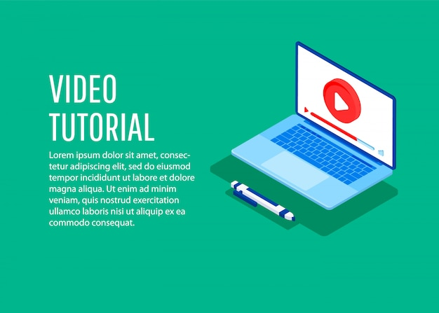 Video tutorial. flat 3d isometric design