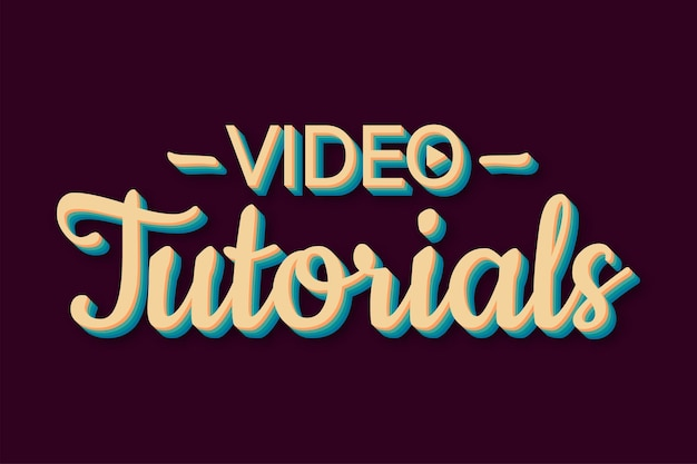Video tutorials retro style icon study and learning background distance education