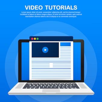 Video tutorials template
