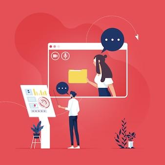 화상 회의 및 온라인 회의 작업 공간