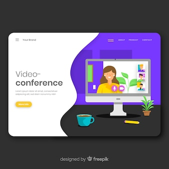 Videoconferencing concept for landing page