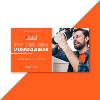 Blog di banner per videogiochi