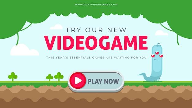 Blog di banner per videogiochi Vettore gratuito