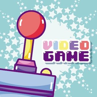 Videogame cartoons concept