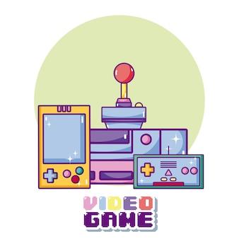 ビデオゲームの漫画のコンセプト