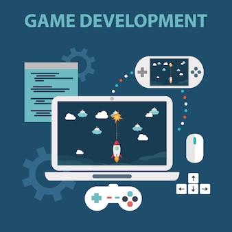 Videogames background design