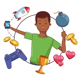 Videogames and millennials cartoons
