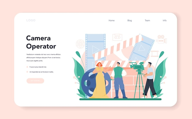 Videographer web banner or landing page video production