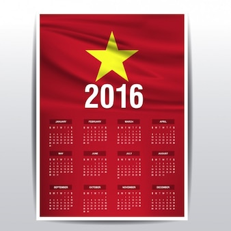 Vietnam calendar of 2016