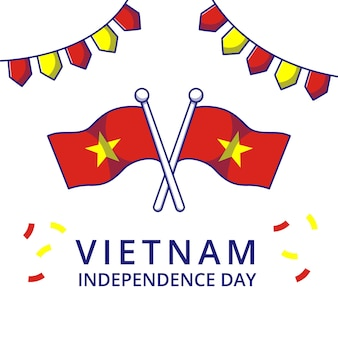 Vietnam independence day illustration. independence icon concept isolated.